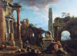 Caprice View with Roman Ruins | Marco Ricci | Oil Painting