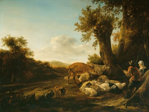 A Shepherd and Shepherdess with Flocks | Nicolaes Berchem | Oil Painting