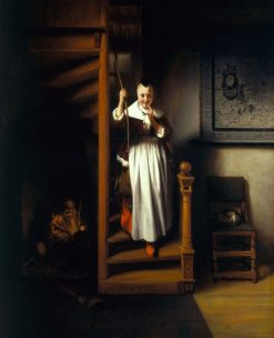 The Listening Housewife | Nicolaes Maes | Oil Painting