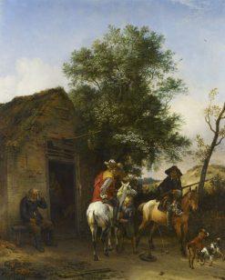 Two Sportsmen Outside an Inn | Paulus Potter | Oil Painting