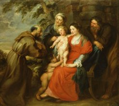 The Holy Family with Saint Francis | Peter Paul Rubens | Oil Painting