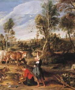 Milkmaids with Cattle in a Landscape | Peter Paul Rubens | Oil Painting