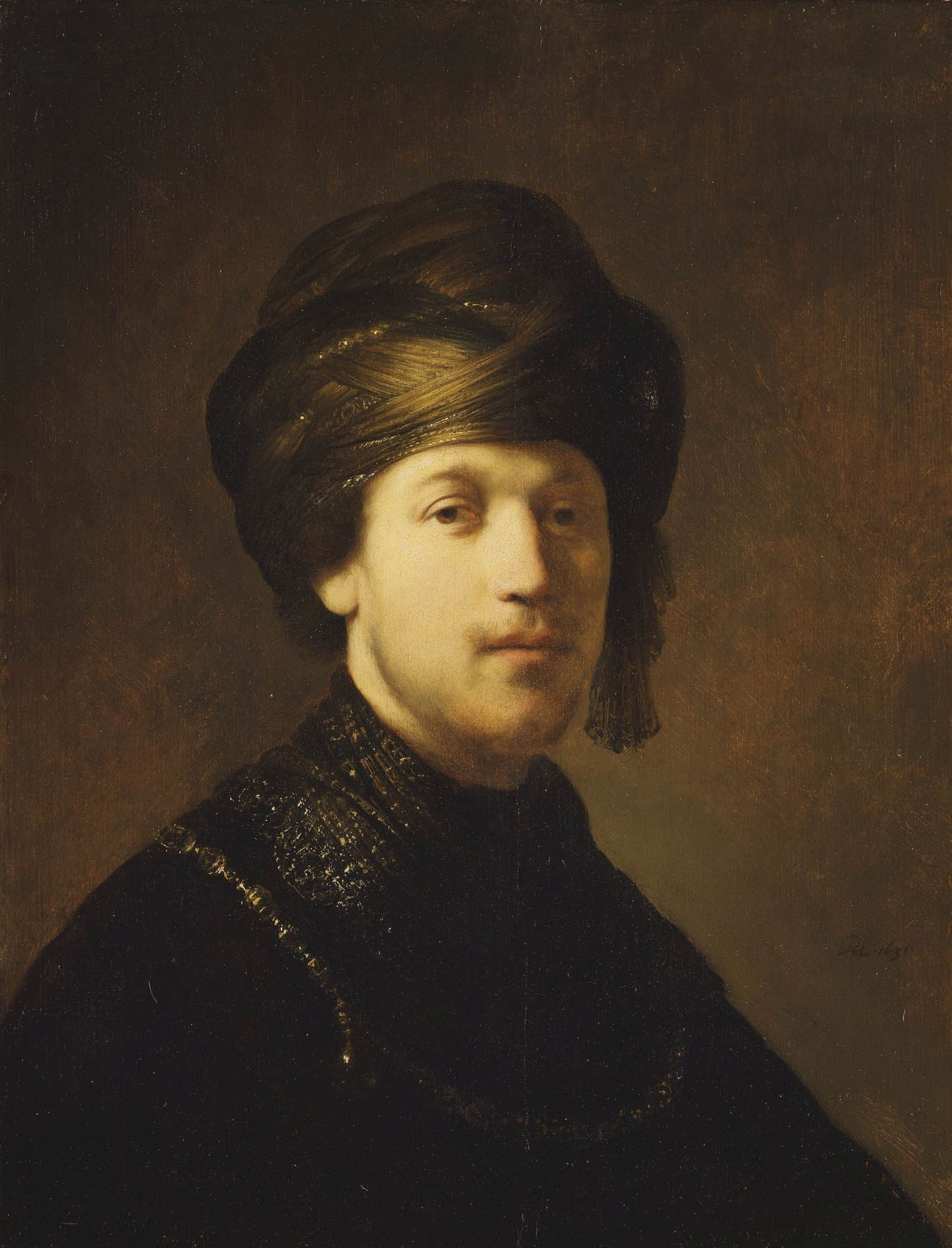 A Young Man Wearing a Turban | Rembrandt van Rijn | Oil Painting