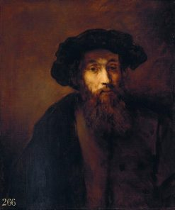 A Bearded Man in a Cap (after Rembrandt) | Thomas Gainsborough | Oil Painting