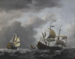 "The ""Golden Leeuw"" at Sea in Heavy Weather 