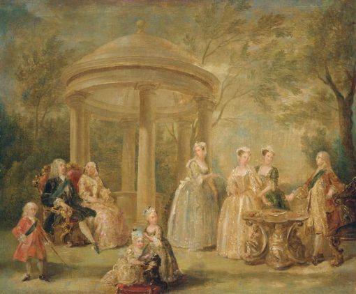 The Family of George II   William Hogarth   Oil Painting