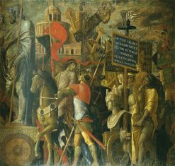 The Triumphs of Caesar - The Bearers of Standards | Andrea Mantegna | Oil Painting