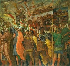 The Triumphs of Caesar - The Picture Bearers | Andrea Mantegna | Oil Painting