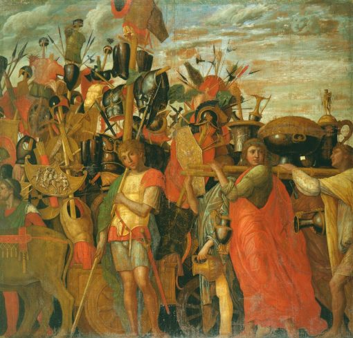 The Triumphs of Caesar - The Bearers of Trophies and Bullion   Andrea Mantegna   Oil Painting