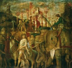 The Triumphs of Caesar - The Elephants | Andrea Mantegna | Oil Painting