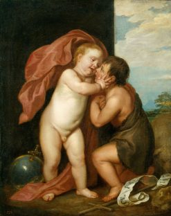The Infant Christ and Saint John the Baptist | Anthony van Dyck | Oil Painting