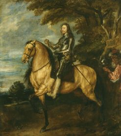 Charles I (1600-1649) on Horseback | Anthony van Dyck | Oil Painting