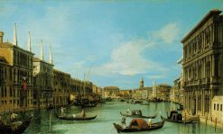 Venice: The Grand Canal from the Palazzo Vendramin Calergi towards S. Geremia | Canaletto | Oil Painting