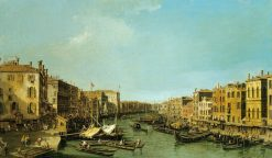 Venice: The Grand Canal from the Rialto to the Palazzo Foscari | Canaletto | Oil Painting