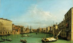 The Grand Canal from the Palazzo Foscari to the Carita | Canaletto | Oil Painting