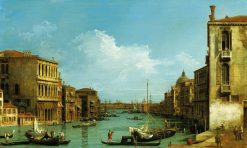 Venice: The Grand Canal from Campo S. Vio Towards the Bacino | Canaletto | Oil Painting