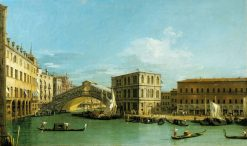 Venice: The Rialto Bridge from the North | Canaletto | Oil Painting
