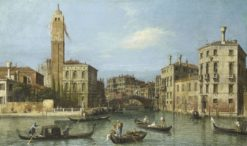 Venice: S. Geremia and the Entrance to the Cannaregio | Canaletto | Oil Painting