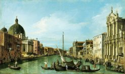 Venice: The Grand Canal with the Scalzi and S. Simione Piccoli | Canaletto | Oil Painting