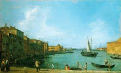 Venice: The Canale di S. Chiari towards the Lagoon | Canaletto | Oil Painting