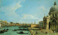 Venice: The Grand Canal with S. Maria della Salute Towards the Riva degli Schiavoni | Canaletto | Oil Painting