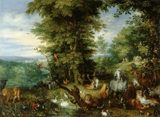 Adam and Eve in the Garden of Eden   Jan Brueghel the Elder   Oil Painting