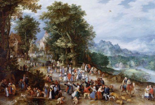 A Flemish Fair | Jan Brueghel the Elder | Oil Painting