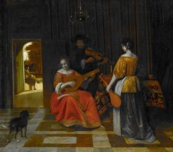 The Music Party | Pieter de Hooch | Oil Painting