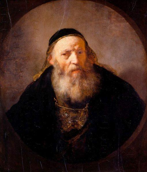 Bust of a Rabbi   Rembrandt van Rijn   Oil Painting