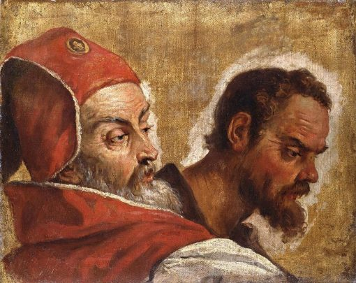 Heads of Two Men: A Scribe or Pharisee and an Apostle? | Sebastiano Ricci | Oil Painting