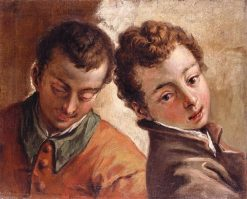 Juxtaposed Heads of a Young Man and a Boy | Sebastiano Ricci | Oil Painting