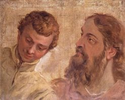 Heads of a Boy and a Bearded Man (an Apostle?) | Sebastiano Ricci | Oil Painting