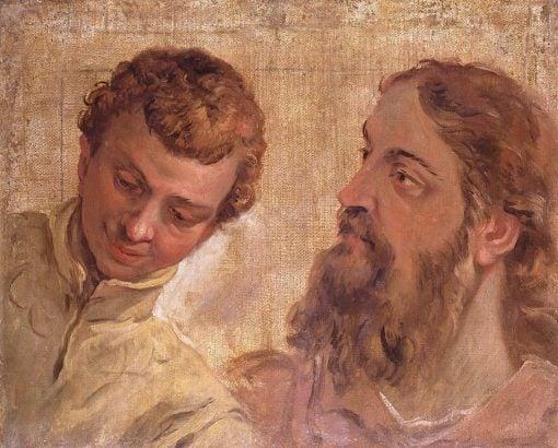 Heads of a Boy and a Bearded Man (an Apostle?) | Sebastiano Ricci | Oil Painting