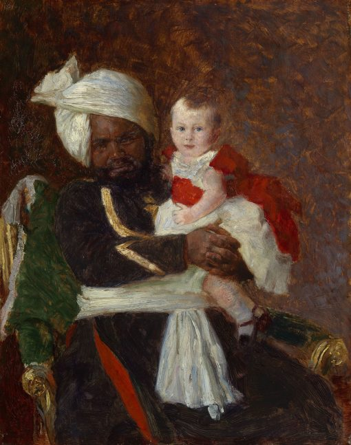 Prince Alexander of Battenberg (1886-1960) with Muhammed Bukhsh | Laurits Tuxen | Oil Painting