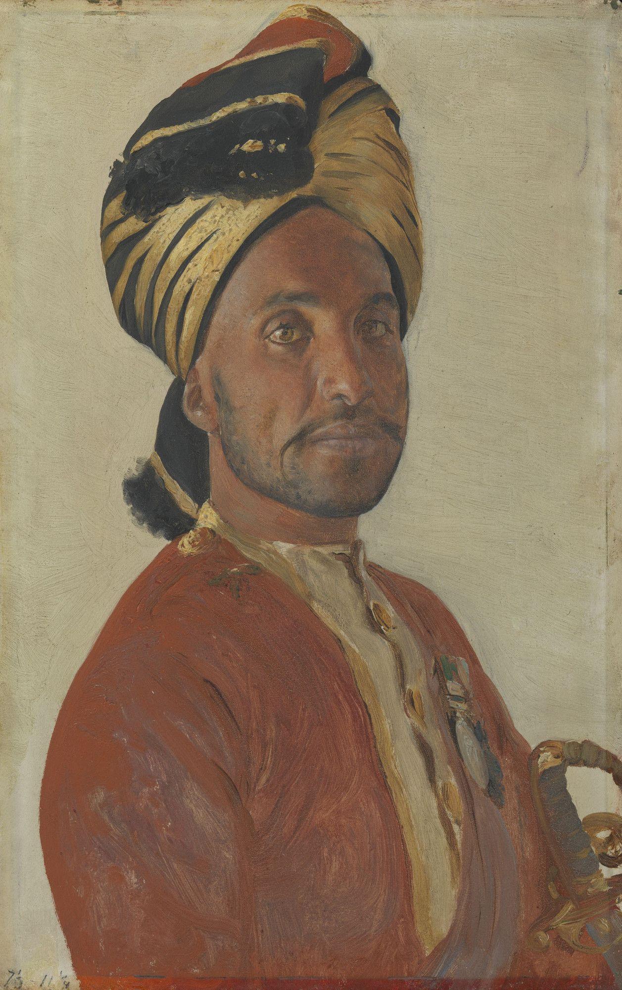 Ghulam Muhammad Khan   Rudolph Swoboda   Oil Painting
