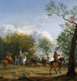 A Hawking Party Setting Out | Adriaen van de Velde | Oil Painting