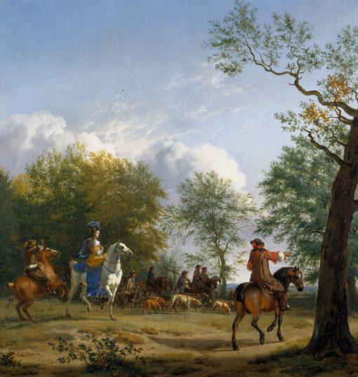 A Hawking Party Setting Out | Adriaen van de Velde | Oil Painting