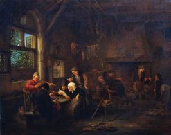 An Evening in a Tavern with a Fiddler | Adriaen van Ostade | Oil Painting