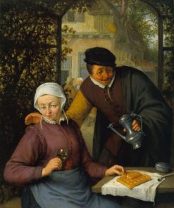 An Elderly Couple in an Arbour | Adriaen van Ostade | Oil Painting