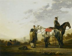Two Cavalry Troopers Talking to a Peasant | Aelbert Cuyp | Oil Painting