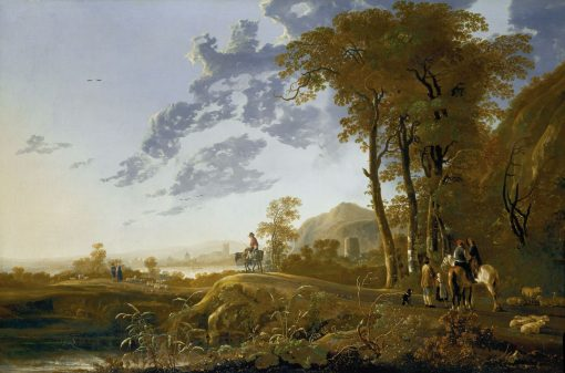 An Evening Landscape with Figures and Sheep | Aelbert Cuyp | Oil Painting