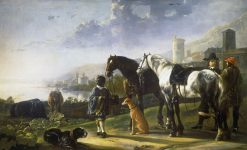 A Page with Two Horses(also known as The Negro Page) | Aelbert Cuyp | Oil Painting