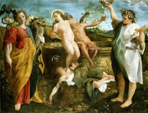 An Allegory of Truth and Time | Annibale Carracci | Oil Painting