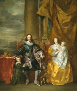 Charles I and Henrietta Maria with their two eldest Children Prince Charles and Princess Mary | Anthony van Dyck | Oil Painting
