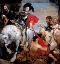 Saint Martin Dividing His Cloak | Anthony van Dyck | Oil Painting