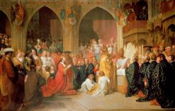 The Institution of the Order of the Garter | Benjamin West | Oil Painting