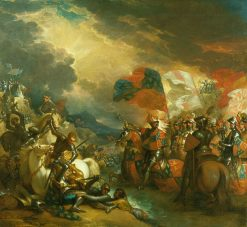 Edward III Crossing the Somme | Benjamin West | Oil Painting