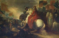 Queen Philippa at the Battle of Neville's Cross | Benjamin West | Oil Painting