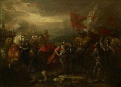 Edward III with the Black Prince after the Battle of Crecy   Benjamin West   Oil Painting