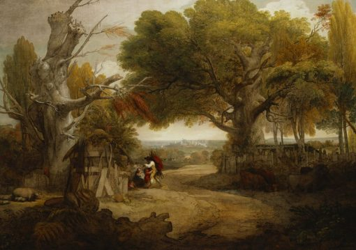 A View in Windsor Great Park   Benjamin West   Oil Painting